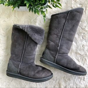 Australia luxe collective gray boots Shearling